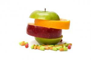 Frutas y complejos vitaminicos